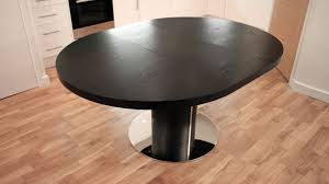 black round dining table and chairs. Black Wood Veneer And Chrome Based Extending Dining Table. Chairs Round Table