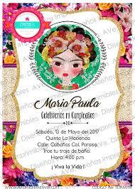 Invitaciones Fiesta Frida Kahlo Invitaciones Invitaciones Fiesta Mexicana Etsy