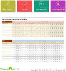 Employee Absent Employee Absent Schedule Template Excel Template124