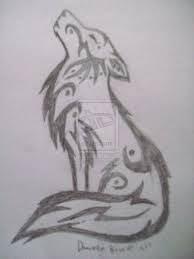 resultado de imagen para lobo facil de dibujar