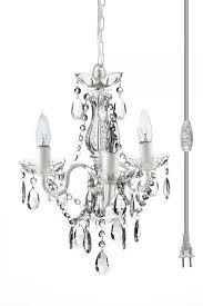furniture graceful mini plug in chandelier 17 modest