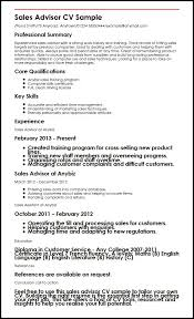 sales assistant cv example sales advisor cv sample myperfectcv