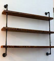 wood wall shelves design metal and steel diy rustic