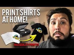 <b>Heat Transfer Printing</b> onto Light and <b>DARK</b> garments. - YouTube