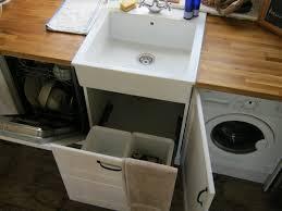 simple white kitchen set with multifunction ikea dishwasher