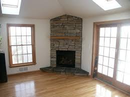 corner gas fireplace idea