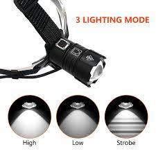 6000 Lumen XHP 70.2 Đèn Led Làm Đèn Pin Câu Cá Cắm Trại Đèn Pha Led Ánh  Sáng Vàng Zoom Đèn Pin Với USB 3 * Pin 18650|Đèn Pha