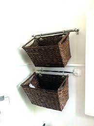 wall basket storage wicker baskets ideas laundry for cute hannah system