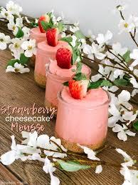 Light Fluffy Desserts Fluffy Strawberry Cheecake Mousse Dessert 3 More Spring