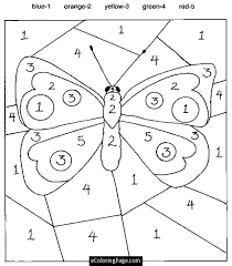 Small Picture Number Coloring Pages For Kids Printable Color by number