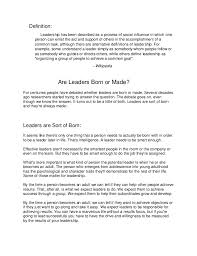 are leader born or made  definition leadership