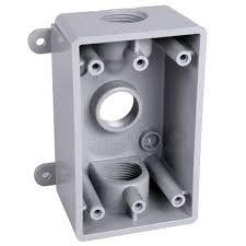 bell 1 gang weatherproof box three 1 2 in or 3 4