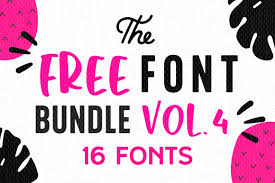Search from a wide range of typography fonts. Free Font Bundle Vol 4 Bundle Creative Fabrica
