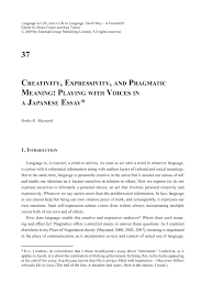 creativity expressivity and pragmatic meaning playing  preview this chapter