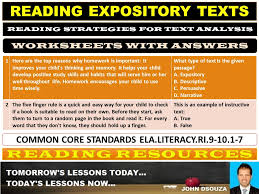 What Is Expository Text Reading Expository Texts Worksheets With Answers