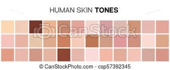 Skin Complexion Color Chart Skin Tone Color Chart Human Skin Texture Color Infographic Palette Facial Care Design