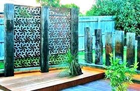 wooden outdoor screen enclosure wood privacy screens garden panels timber deck pertaining to prepare fireplace winsome