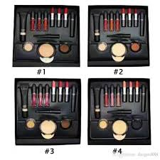 new makeup set foundation maa eyeliner lipstick eyeshadow face fix skinfinish powder full makeup bundle dhl shipping makeup brushes sets play makeup set