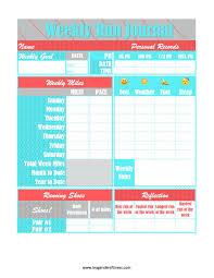free printable running log running journal free printable download lea genders fitness