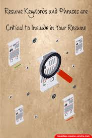 Resume Keywords And Phrases 6 Cover Letter Key Words For A Resume