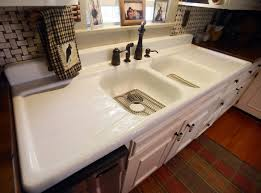 kitchen kitchen sink with drainboard with astonishing vintage