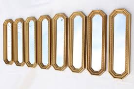 Mirror grouping on wall Small Mcm 50s 60s Vintage Gold Framed Mirror Grouping Retro Focal Point Mirrored Wall 1stopretroshopcom Mcm 50s 60s Vintage Gold Framed Mirror Grouping Retro Focal Point