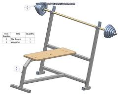 olympic flat bench press plan bench subassembly parts list