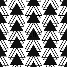 Shape Patterns Gorgeous Simple Triangle Shape Black And White Seamless Pattern Vector