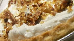 photo of toasted coconut pecan and caramel pie by patrice