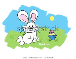 Thank You Easter Easter Bunny Easter Cupcake Thank You Stock Illustration