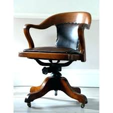 leather antique wood office chair leather antique. Old Fashioned Office Chair Antique Leather Desk S Wood F
