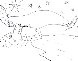 Small Picture Scene Of Winter Coloring Pages Winter Coloring pages of
