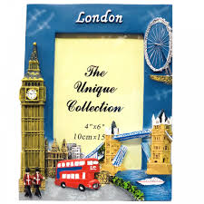 london souvenir photo frame 4x6 big ben red bus tower bridge london eye picture holder