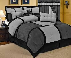 California King Bed Comforter Sets Bringing Refinement In Your Within Brown  And Black Set Plans 17