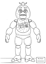 Coloring Pages Cartoons Fnaf Golden Freddy Five Nights At Freddys