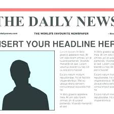 Front Page Of A Newspaper Template Metabots Co