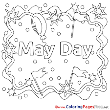 Small Picture May Day Kids Workers Day Coloring Page