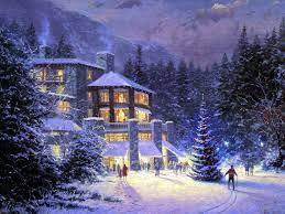 69+] Free Winter Scene Wallpaper on ...