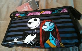 nightmare before jack and sally makeup bag new with s ebay