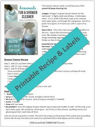 magic homemade shower cleaner shines cleans and disinfects tubs tile and glass