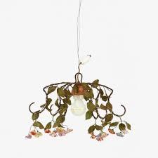 vintage small porcelain flowers chandelier