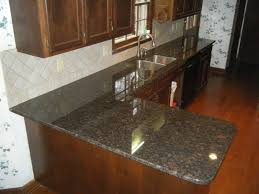 Granite Tile For Kitchen Countertops Tan Brown Granite Countertops With 4 X 4 Rialto Beige Ceramic Tile