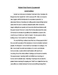 discuss how robert frost uses his poems home burial mending  page 1 zoom in