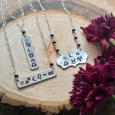 Custom Astrology Necklace Sapphire Jewelry Bar Necklace Birth Chart Necklace Zodiac Jewelry Natal Necklace