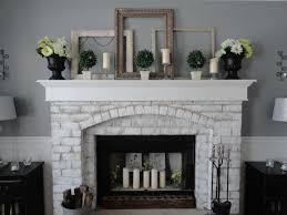 painting fireplace brick unique pretty painted brick fireplace on painted brick fireplace
