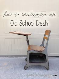 school desk makeover spoonful of imagination