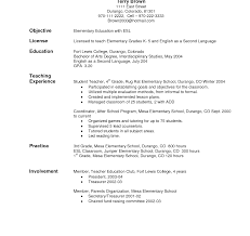 Objectives For Teacher Resumes Rare Esl Resume Objective Teaching