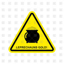 Free Sign Attention Leprechaun Gold Yellow Triangle Sign Stock Vector Image