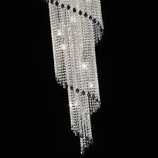 art deco style vertical swarovski crystal chandelier