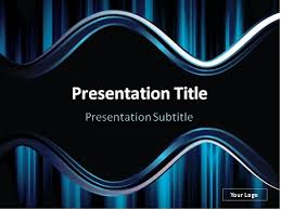 Download Dark Blue Wavy Abstract Background Powerpoint Template